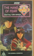 The Hand of Fear VHS Australian cover