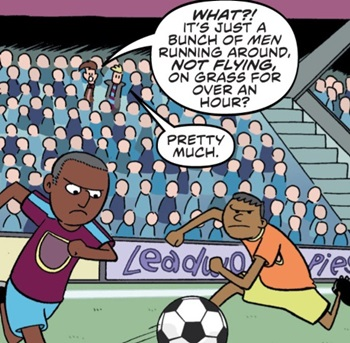 Bow-ties for Goal Posts (comic story)
