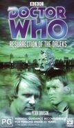 Resurrection of the Daleks VHS Australian rerelease cover