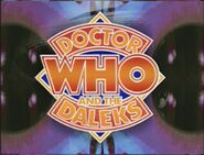 Doctor Who and the Daleks 1993 title card