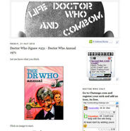 Life, Doctor Who and Combom Blog Cap
