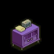Purple Cabinet Table