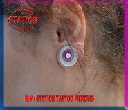 Piercing, tunnel, multible, streching, station, female, lobe, tattoo, silicone tunnels, cyprus, studio,