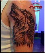 Wolf tattoo,realistic,3d tattoo,image,station studio