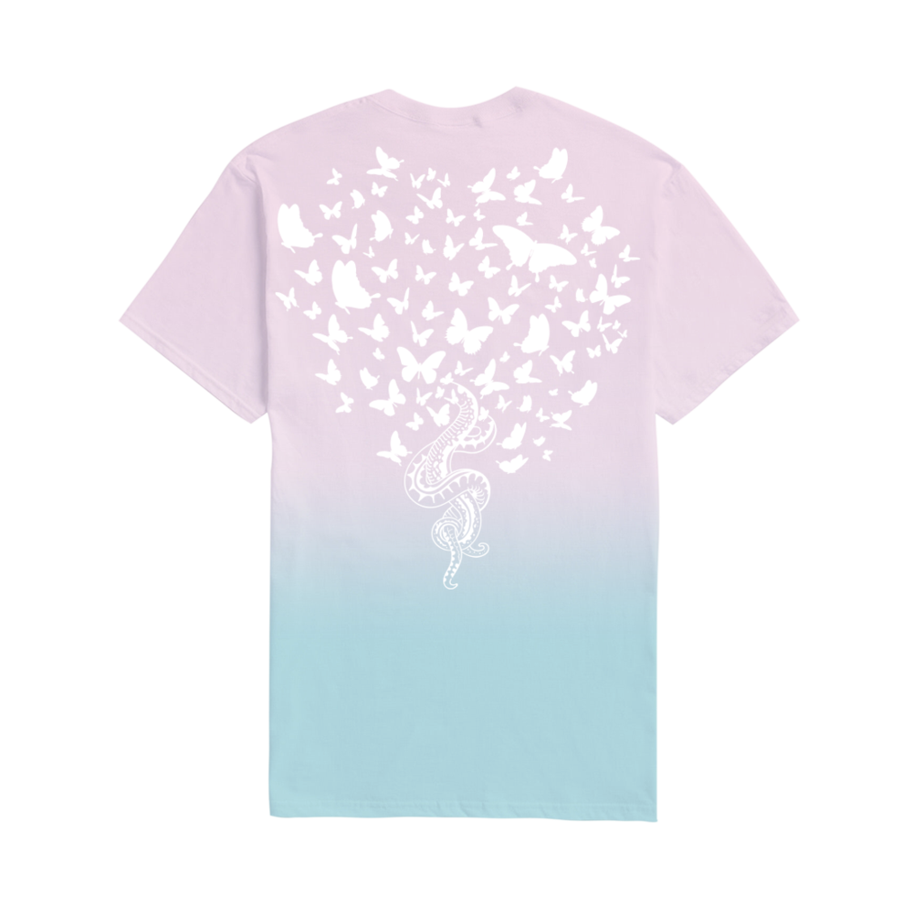 You Need To Calm Down Merchandise Pink And Blue Tee With Snakes And Butterflies Design Taylor Swift Wiki Fandom