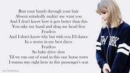 Taylor Swift - Fearless - Lyrics Songs