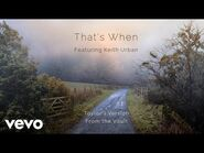 That's When (Taylor's Version) (From The Vault) (Lyric Video)