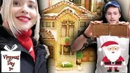 Building The BEST Gingerbread House Ever Vlogmas Day 20