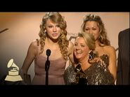 Taylor Swift accepting her first ever GRAMMY Award for White Horse - GRAMMYs