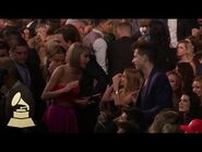 Taylor Swift & Mark Ronson - Audience Cam - 58th GRAMMYs