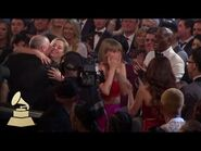 Taylor Swift Reaction - Audience Cam - 58th GRAMMYs