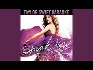 Speak Now (Instrumental With Background Vocals)