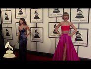 Taylor Swift & Selena Gomez - Fashion Cam - 58th GRAMMYs