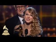 Taylor Swift accepting the GRAMMY for Album of the Year at the 52nd GRAMMY Awards - GRAMMYs