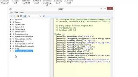 Terraria_tConfig_Modding_Tutorial_4_-_Decompiling_Terraria