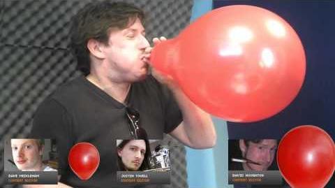 TalkRadar UK mnigame - Balloon inflating minigame