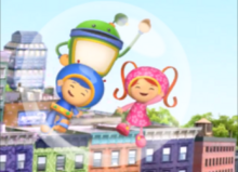 Team Umizoomi floating inside a bubble.png