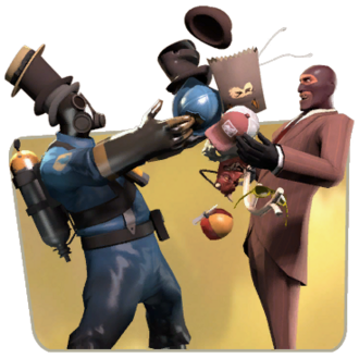 Pyro and Spy trading TF2.png