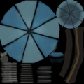 Engy chair umbrella blue