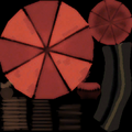 Engy chair umbrella red