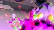 Dumplin protects Puddin by blocking a blast from Mira Xenoverse 2 XV2 TFS Team Four Star