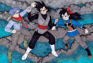 Future Ranch Trunks fight Goku Black what if Raditz turned good DragonBallR&R Z Abridged MasakoX TFS Team Four Star