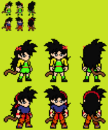Kid Ranch main outfit fighting gi costume sprites (by ssjstorm18 (Kevin Nmekini)) Radtiz turned good Dragon Ball R&R Z Abridged MasakoX TFS Team Four Star