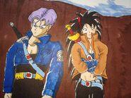 Future Ranch and Trunks with sword and katana jackets (by GtmArtex) Raditz turned good Dragon Ball R&R Z Abridged MasakoX TFS Team Four Star