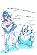 Dumplin and Puddin winter jackets Super Broly (by Phil DrawsArt) TFS Team Four Star Dragon Ball Xenoverse 2 XV2
