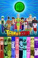 Dumplin Puddin Paata Spudz LAKIGR TANTOR and the others fighting for TeamFourStar's universal survival in the Tournament of Power