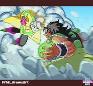 Puddin vs Super Broly (Phil DrawsArt) Dragon Ball Xenoverse 2 XV2 TFS Team Four Star