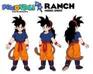 Ranch character design sheet Raditz turned good Dragon Ball R&R Z Abridged MasakoX TFS Team Four Star