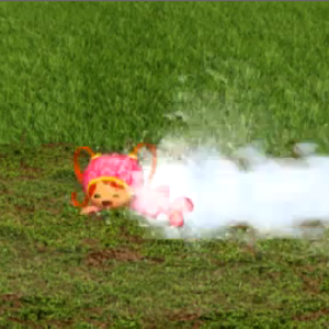 Milli gets sprayed.png