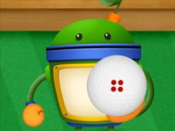 Bot with a golf ball