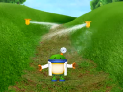 Bot and sprinklers