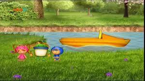 Motorboat on river