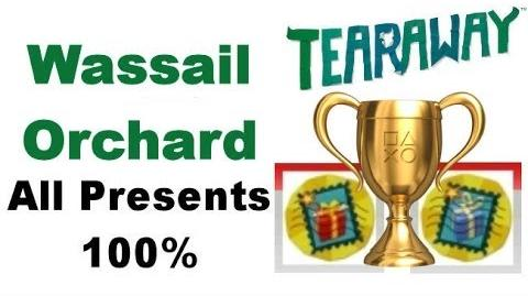 Tearaway PS VITA - 1080P - Wassail Orchard - ALL Red And Blue PRESENT Locations!