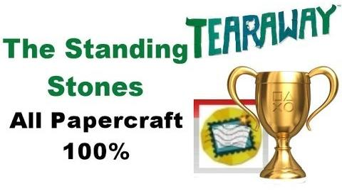 Tearaway PS VITA - 1080P - The Standing Stones - ALL Papercraft Locations!