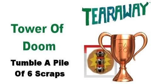 Tearaway PS VITA - 1080P - How To Get The Tower Of Doom BRONZE Trophy!