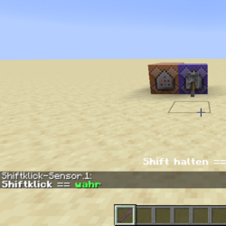 Shiftklick-Sensor (Befehle)