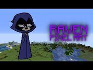 Minecraft - Teen Titans Go! Raven Pixel Art