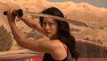 5x13 Kira in desert with sword