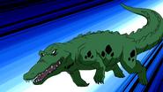 Beast Boy as Crocodile