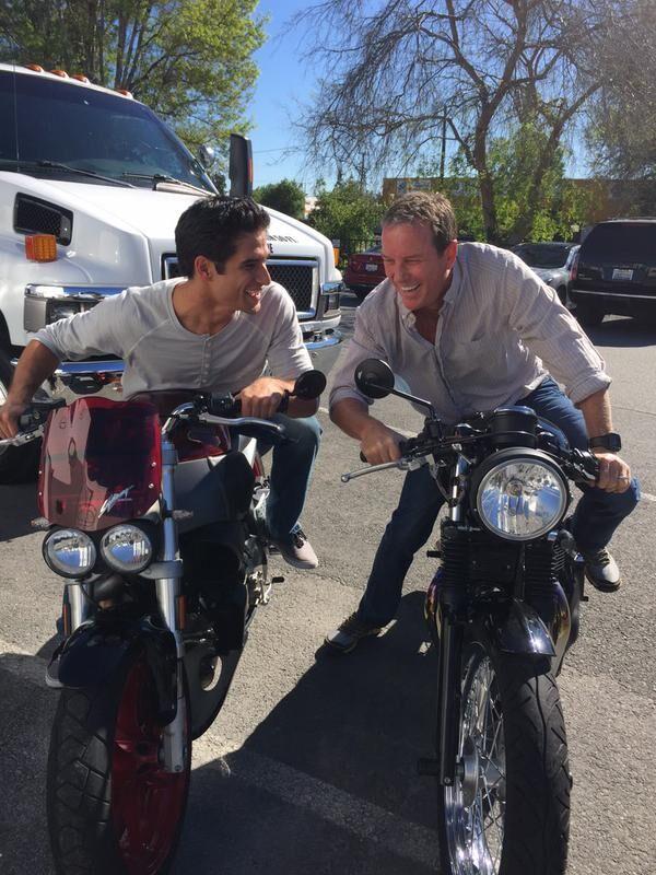 Teen Wolf Season 5 Behind the Scenes Tyler Posey Linden Ashby motorcycles 2 021015.jpg