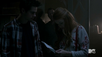 Teen Wolf Season 4 Episode 9 Perishable Brunski knows Lydia and Stiles know about him