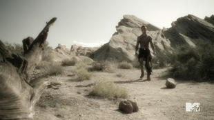 Teen Wolf Season 5 Episode 14 The Sword and the Spirit Parrish after exploding