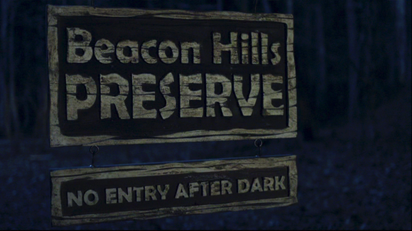 Teen Wolf Episode 1 Beacon Hills Preserve sign.png