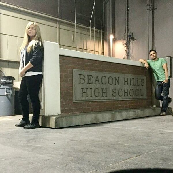 Teen Wolf Season 5 Behind the Scenes Megan and Daniel Wardrobe Dept 012715.jpg