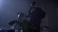 Teen Wolf Season 3 Episode 7 Currents Tyler Posey Scott McCall on his bad ass dirt bike