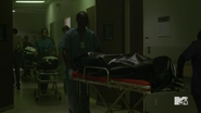 Teen Wolf Season 5 Episode 14 The Sword and the Spirit Bodies arriving at the hospital